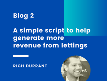 2. A simple script to help generate more revenue from lettings